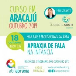 Detalhes do eventos Curso Apraxia de fala na Infância - Introdutório- Dra Elisabete Giusti - Aracaju - 18 de outubro