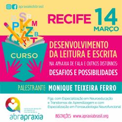 Detalhes do eventos Desenvolvimento da Leitura e Escrita - Desafios e Possibilidades - RECIFE - 14 de março