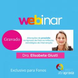 Detalhes do eventos Webinar - Alterações de Prosódia na Apraxia de Fala na Infância - GRAVADO