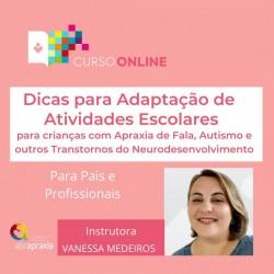 Detalhes do eventos Curso Online Dicas para Adaptação de Atividades Escolares para Crianças com Apraxia e Autismo