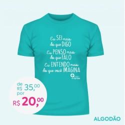 Detalhes do produto Doe R$ 35,00 e Ganhe uma Camiseta Baby Look Feminina - TURQUESA