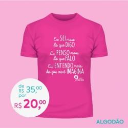 Detalhes do produto Doe R$ 35,00 e Ganhe uma Camiseta Masculina - ROSA