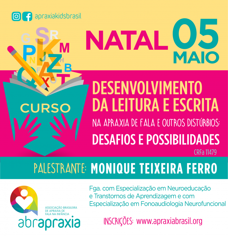 Desenvolvimento da Leitura e Escrita - Desafios e Possibilidades - NATAL - 5 DE MAIO