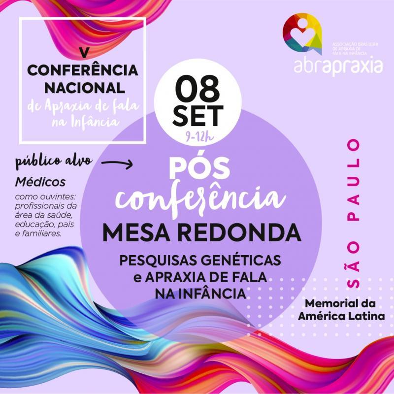 Pós Conferência Nacional de Apraxia de Fala na Infância