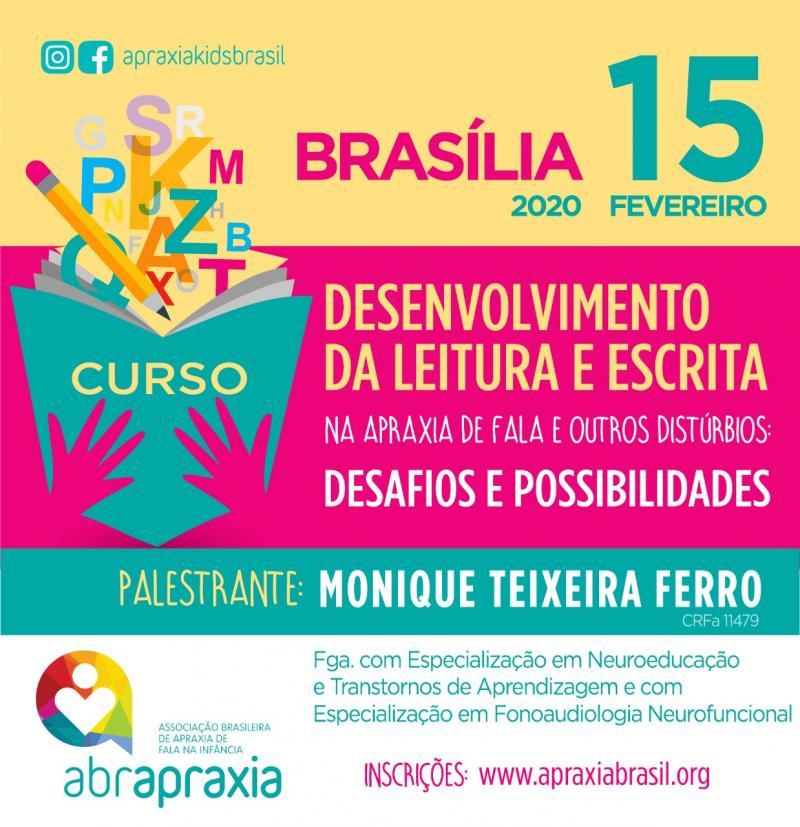 Desenvolvimento da Leitura e Escrita - Desafios e Possibilidades - BRASÍLIA - 15 de fevereiro de 2020