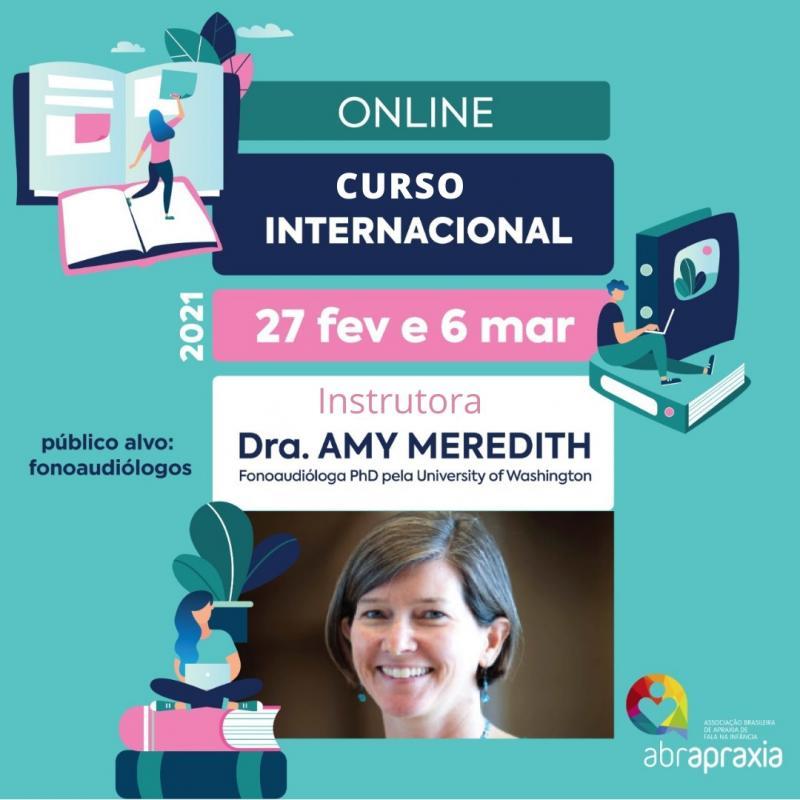 Curso Internacional -  Tratamentos para Apraxia de Fala na Infância baseados em Evidências - 27 de Fev  e 6 de Mar