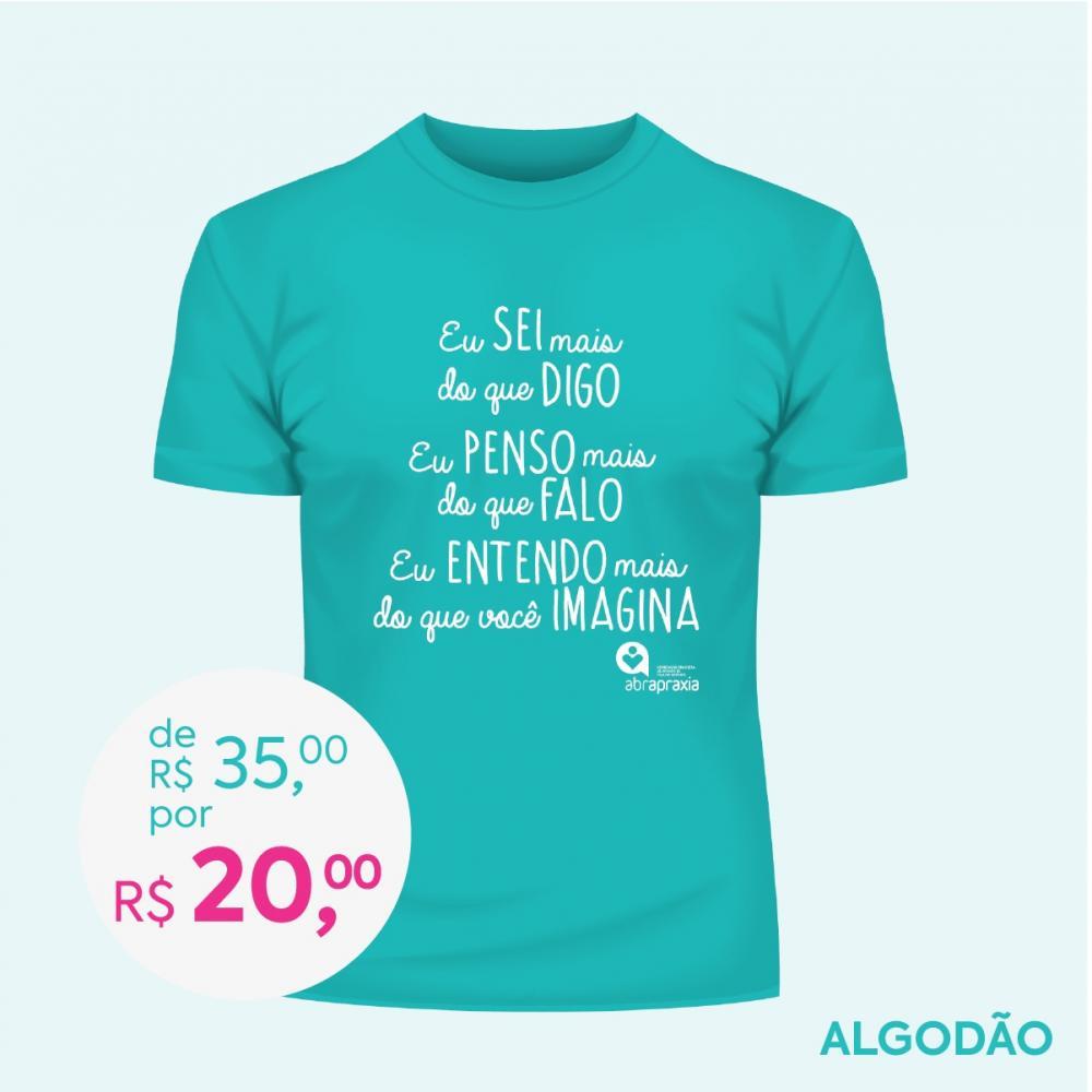 Doe R$ 35,00 e Ganhe uma Camiseta Baby Look Feminina - TURQUESA