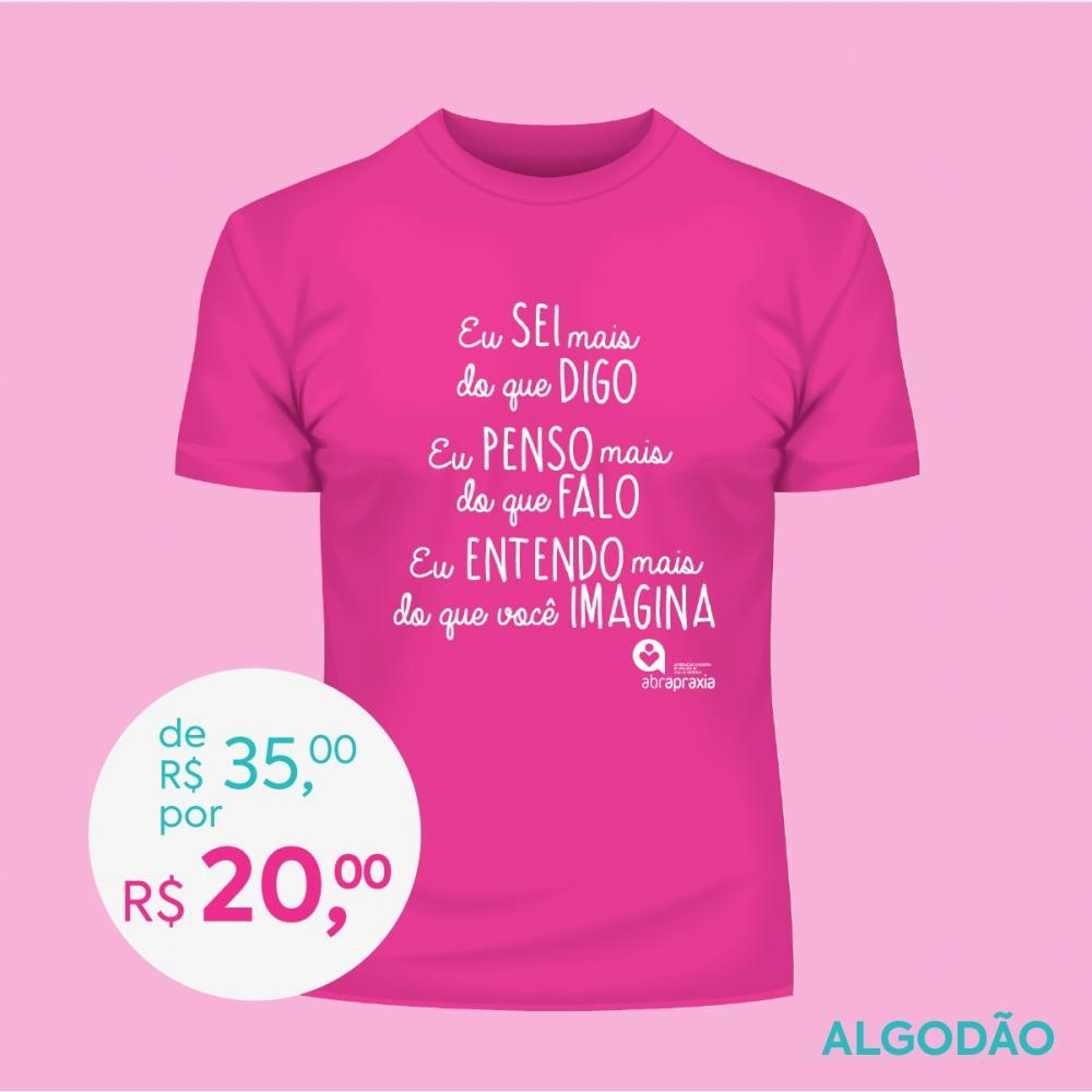 Doe R$ 35,00 e Ganhe uma Camiseta Baby Look Feminina - ROSA